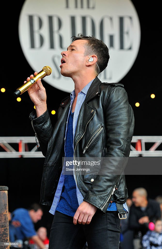 Nate Reuss of FUN. performs on Day 2 of the 27th Annual Bridge School Benefit concert at Shoreline Amphitheatre on October 27, 2013 in Mountain View, California.