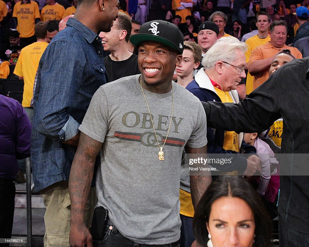 <a gi-track='captionPersonalityLinkClicked' href=/galleries/search?phrase=Nate+Robinson&family=editorial&specificpeople=208906 ng-click='$event.stopPropagation()'>Nate Robinson</a> attends the Los Angeles Lakers and Denver Nuggets game 7 of the Western Conference Quarterfinals in the 2012 NBA Playoffs on May 18, 2012 in Los Angeles, California.