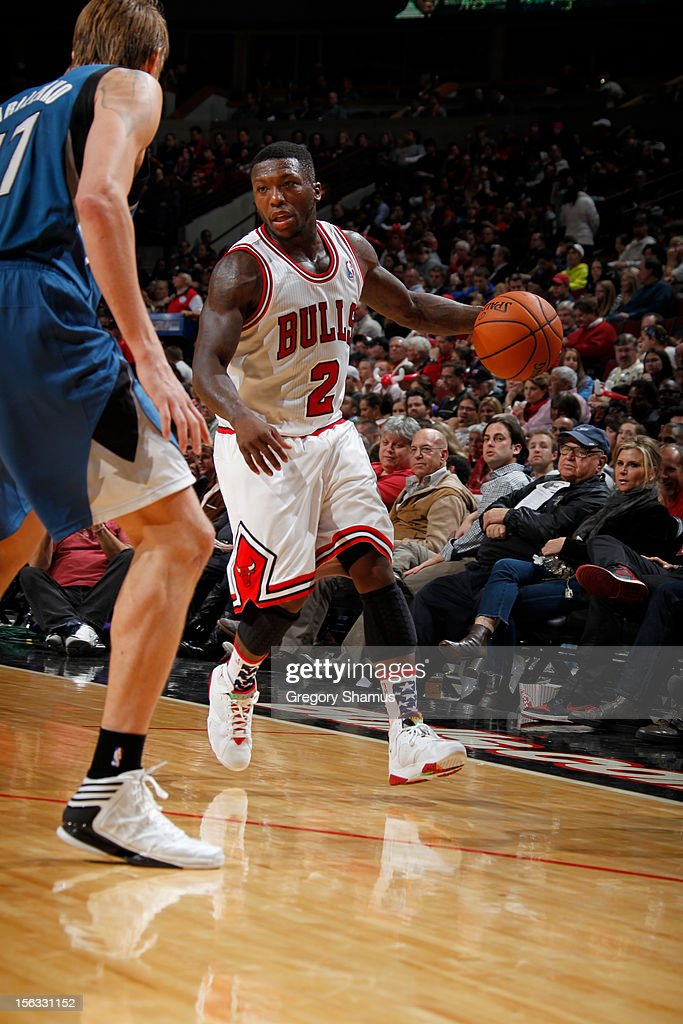 Nate Robinson #2 of the Chicago Bulls drives against the Minnesota Timberwolves on November 10, 2012 at the United Center in Chicago, Illinois.