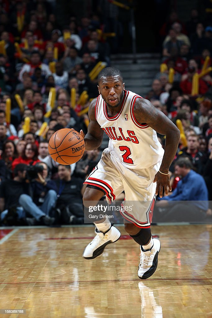 Nate Robinson #2 of the Chicago Bulls handles the ball against the Los Angeles Clippers on December 11, 2012 at the United Center in Chicago, Illinois.
