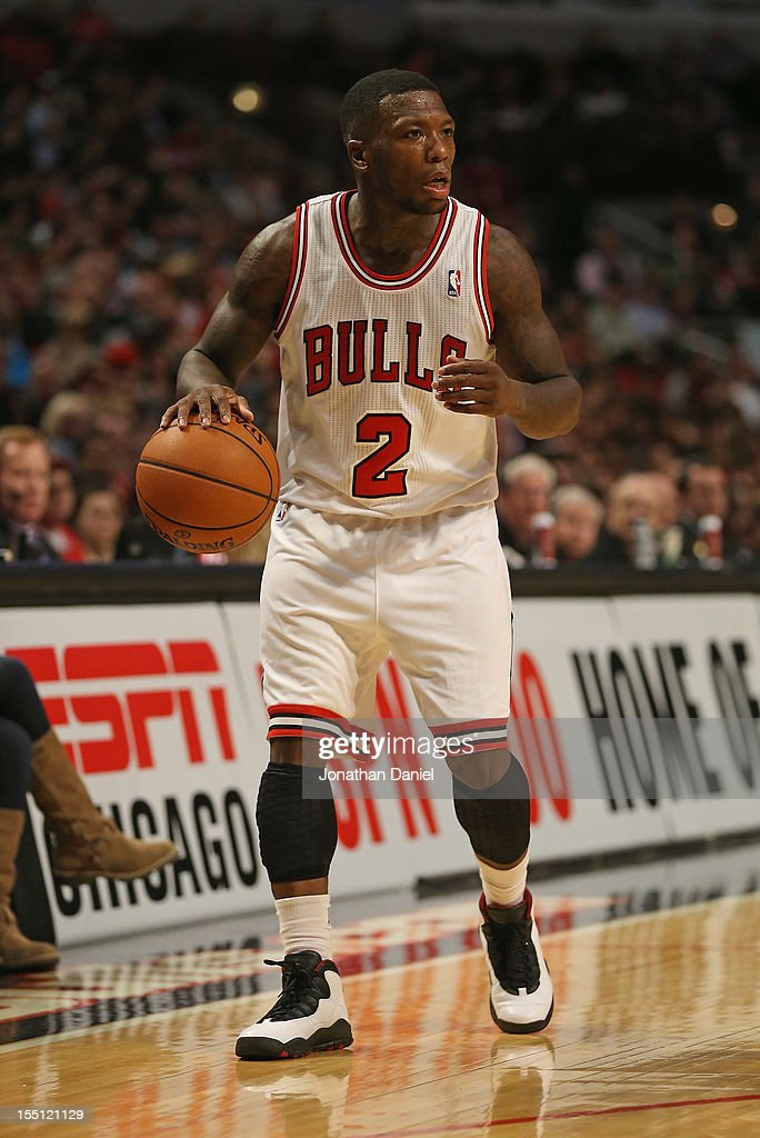 Nate Robinson #2 of the Chicago Bulls looks to pass against the Sacramento Kings at the United Center on October 31, 2012 in Chicago, Illinois. The Bulls defeated the Kings 93-87.