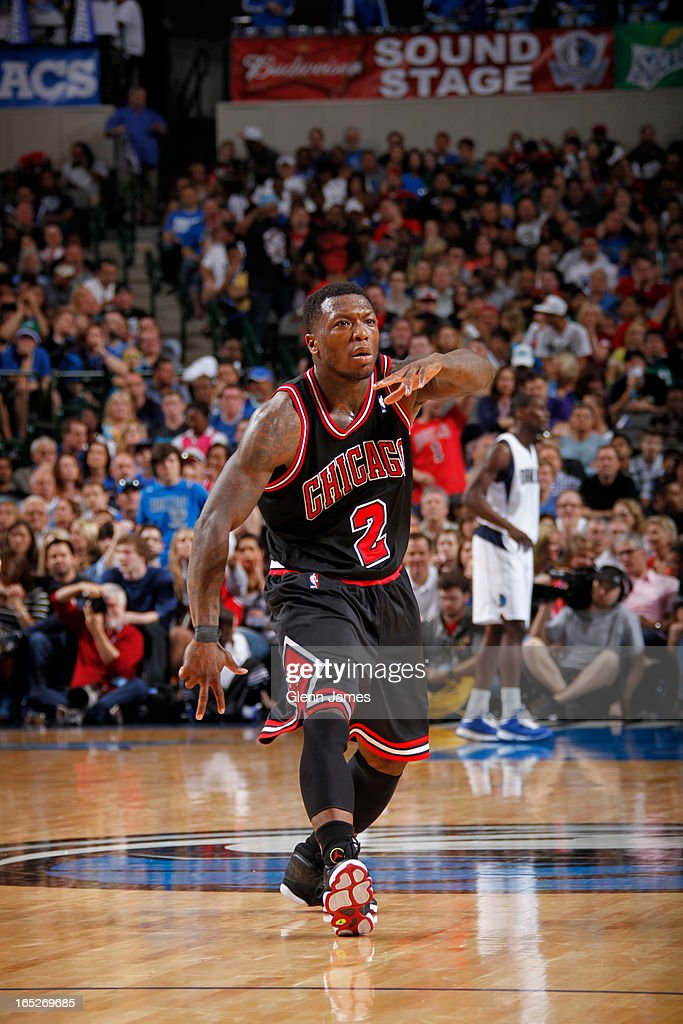 Nate Robinson #2 of the Chicago Bulls walks off the court during the game against the Dallas Mavericks on March 30, 2013 at the American Airlines Center in Dallas, Texas.