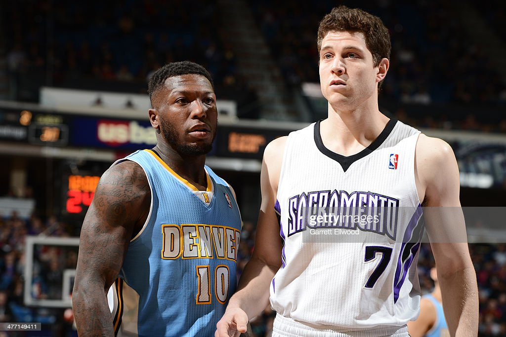 <a gi-track='captionPersonalityLinkClicked' href=/galleries/search?phrase=Nate+Robinson&family=editorial&specificpeople=208906 ng-click='$event.stopPropagation()'>Nate Robinson</a> #10 of the Denver Nuggets looks on against the Sacramento Kings at Sleep Train Arena on January 26, 2014 in Sacramento, California.