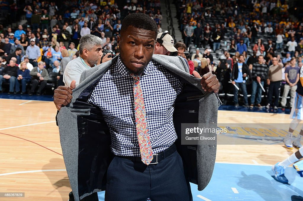 Nate Robinson #10 of the Denver Nuggets poses for a picture before the game against the Golden State Warriors on April 16, 2014 at the Pepsi Center in Denver, Colorado.