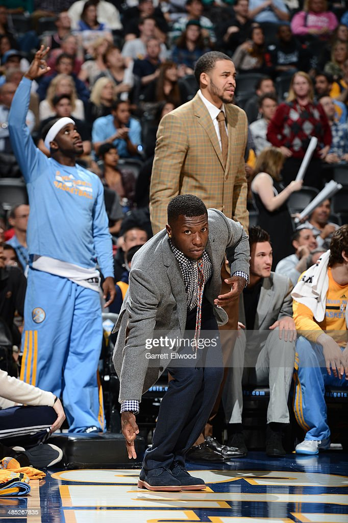 Nate Robinson #10 of the Denver Nuggets poses for a picture during the game against the Golden State Warriors on April 16, 2014 at the Pepsi Center in Denver, Colorado.