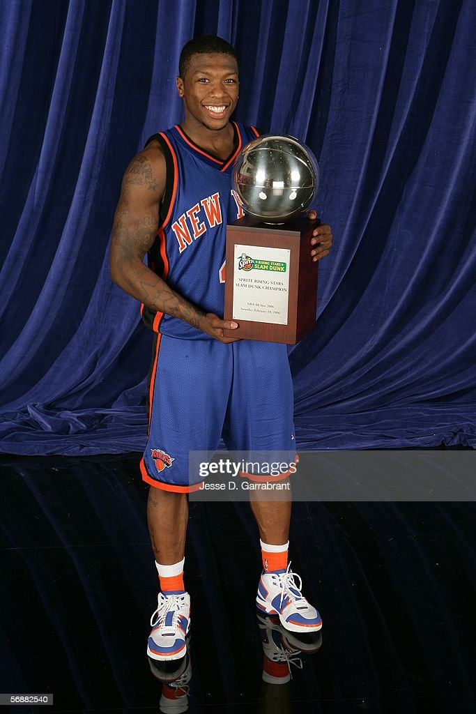 8e50ac895ef ... Nate Robinson 4 of the New York Knicks poses for a portrait with the  trophy ...