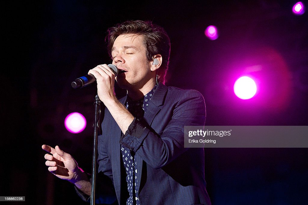 Nate Ruess of American indie rock band fun. performs during the 2013 Allstate Fan Fest at the Allstate Sugar Bowl in the Jax Brewery Parking Lot on January 1, 2013 in New Orleans, Louisiana.