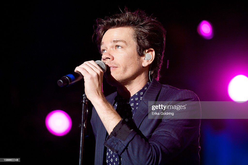 <a gi-track='captionPersonalityLinkClicked' href=/galleries/search?phrase=Nate+Ruess&family=editorial&specificpeople=6897270 ng-click='$event.stopPropagation()'>Nate Ruess</a> of American indie rock band fun. performs during the 2013 Allstate Fan Fest at the Allstate Sugar Bowl in the Jax Brewery Parking Lot on January 1, 2013 in New Orleans, Louisiana.