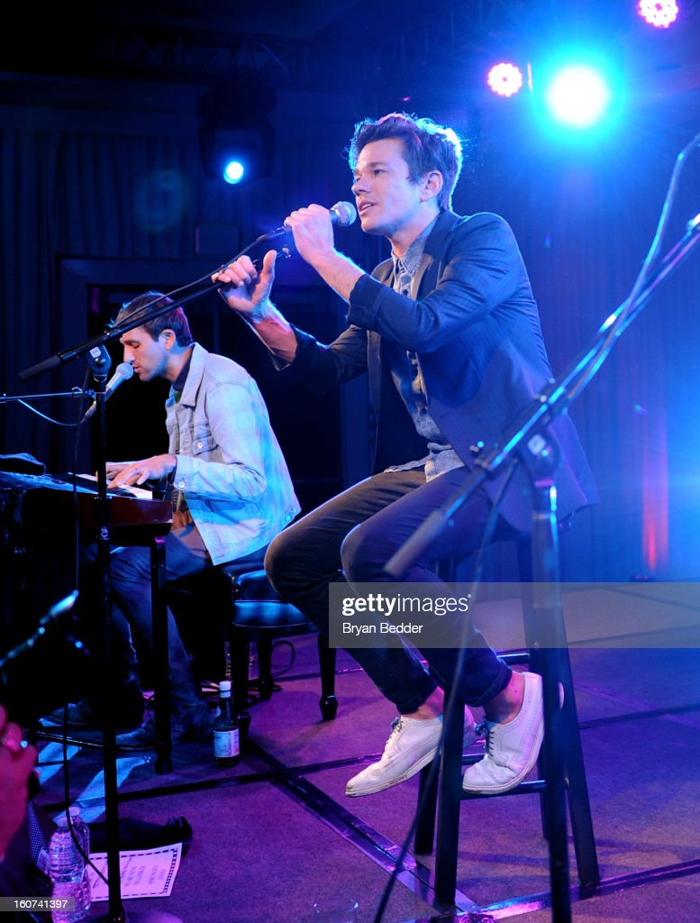 Nate Ruess of Fun. performs a private concert to celebrate Delta Air Lines' Nonstop NYC challenge at SLS Hotel on Feb. 4, 2013 in Beverly Hills, California.