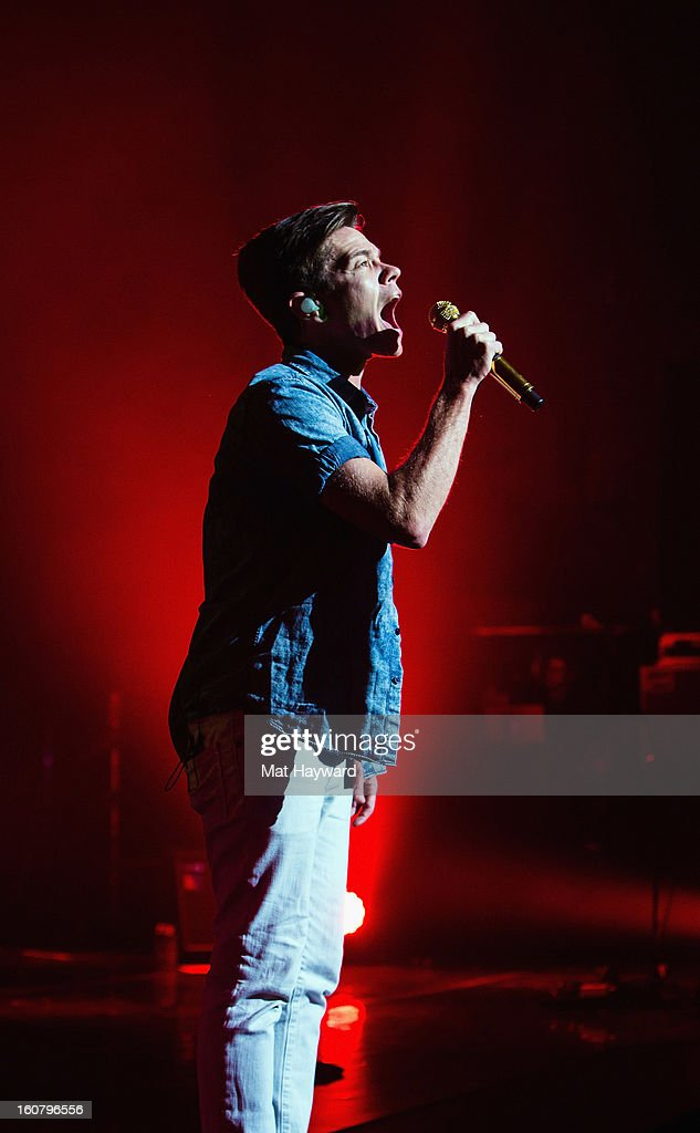 <a gi-track='captionPersonalityLinkClicked' href=/galleries/search?phrase=Nate+Ruess&family=editorial&specificpeople=6897270 ng-click='$event.stopPropagation()'>Nate Ruess</a> of fun. performs at Paramount Theatre on February 5, 2013 in Seattle, Washington.