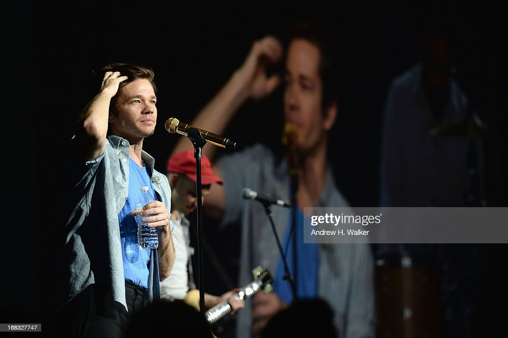 <a gi-track='captionPersonalityLinkClicked' href=/galleries/search?phrase=Nate+Ruess&family=editorial&specificpeople=6897270 ng-click='$event.stopPropagation()'>Nate Ruess</a> of fun. performs at the A+E Networks 2013 Upfront on May 8, 2013 in New York City.