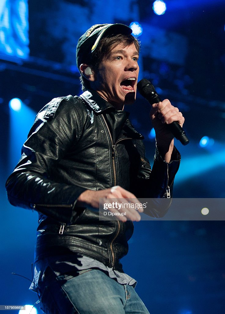 Nate Ruess of Fun. performs during Z100's Jingle Ball 2012 presented by Aeropostale at Madison Square Garden on December 7, 2012 in New York City.