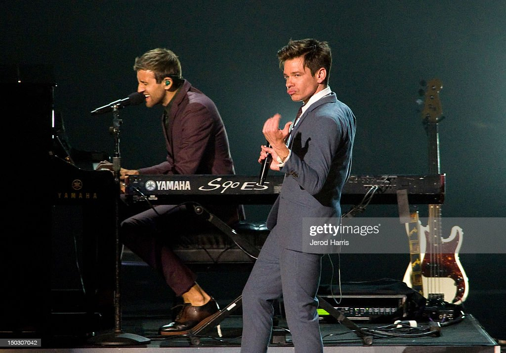 Nate Ruess of fun. performs onstage at the 'Teachers Rock' benefit event held at Nokia Theatre L.A. Live on August 14, 2012 in Los Angeles, California.