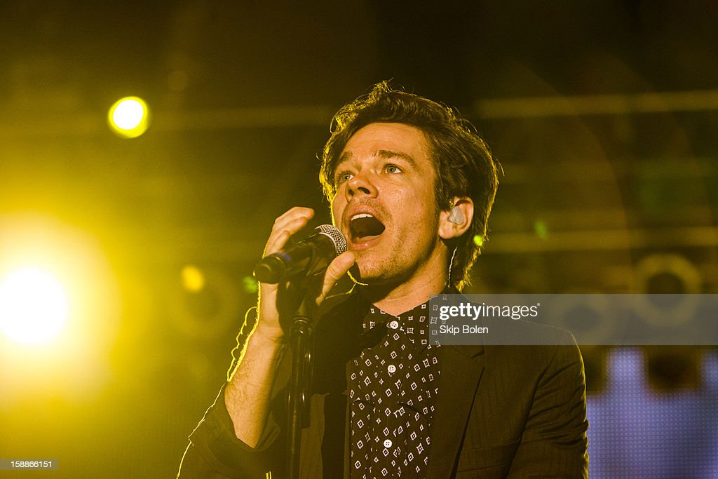 Nate Ruess of the indie rock band fun. performs during the 2013 Allstate fan fest at the Allstate Sugar Bowl in the Jax Brewery Parking Lot on January 1, 2013 in New Orleans, Louisiana.