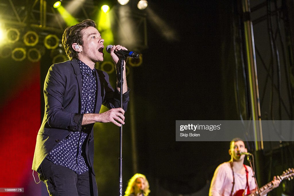<a gi-track='captionPersonalityLinkClicked' href=/galleries/search?phrase=Nate+Ruess&family=editorial&specificpeople=6897270 ng-click='$event.stopPropagation()'>Nate Ruess</a> of the indie rock band fun. performs during the 2013 Allstate fan fest at the Allstate Sugar Bowl in the Jax Brewery Parking Lot on January 1, 2013 in New Orleans, Louisiana.