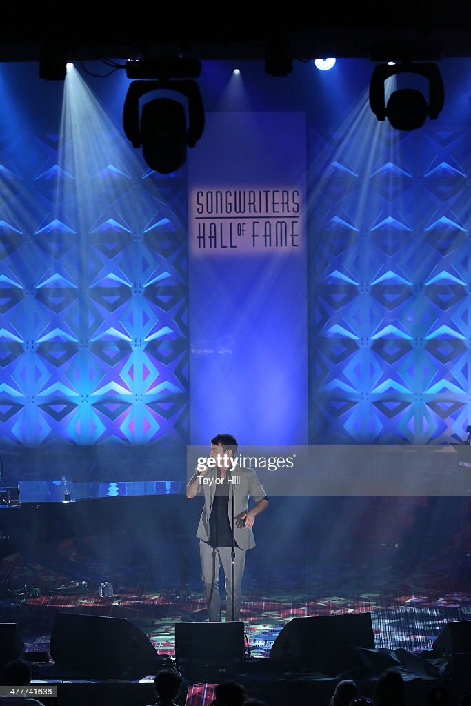 Nate Ruess performs during the Songwriters Hall Of Fame 46th Annual Induction And Awards at Marriott Marquis Hotel on June 18 2015 in New York City