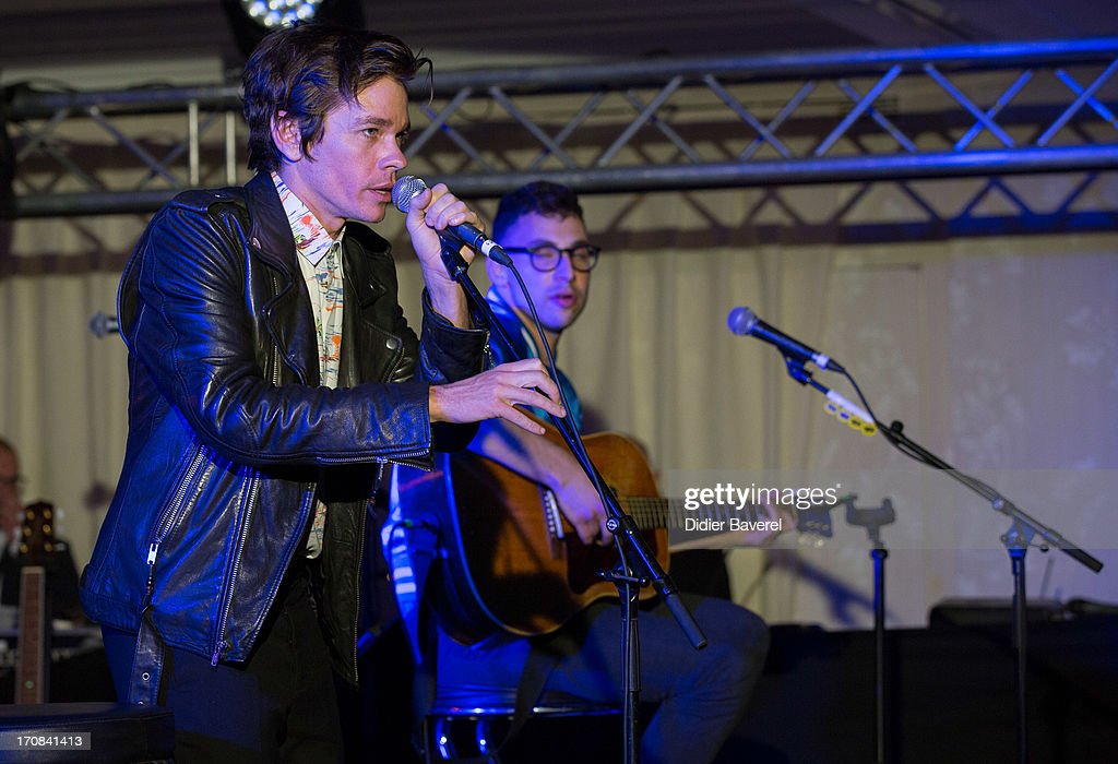 Nate Ruess, singer of Fun, performs at Clear Channel Media and Entertainment and MediaLink VIP Event at Hotel Du Cap-Eden-Roc on June 18, 2013 in Cannes, France.