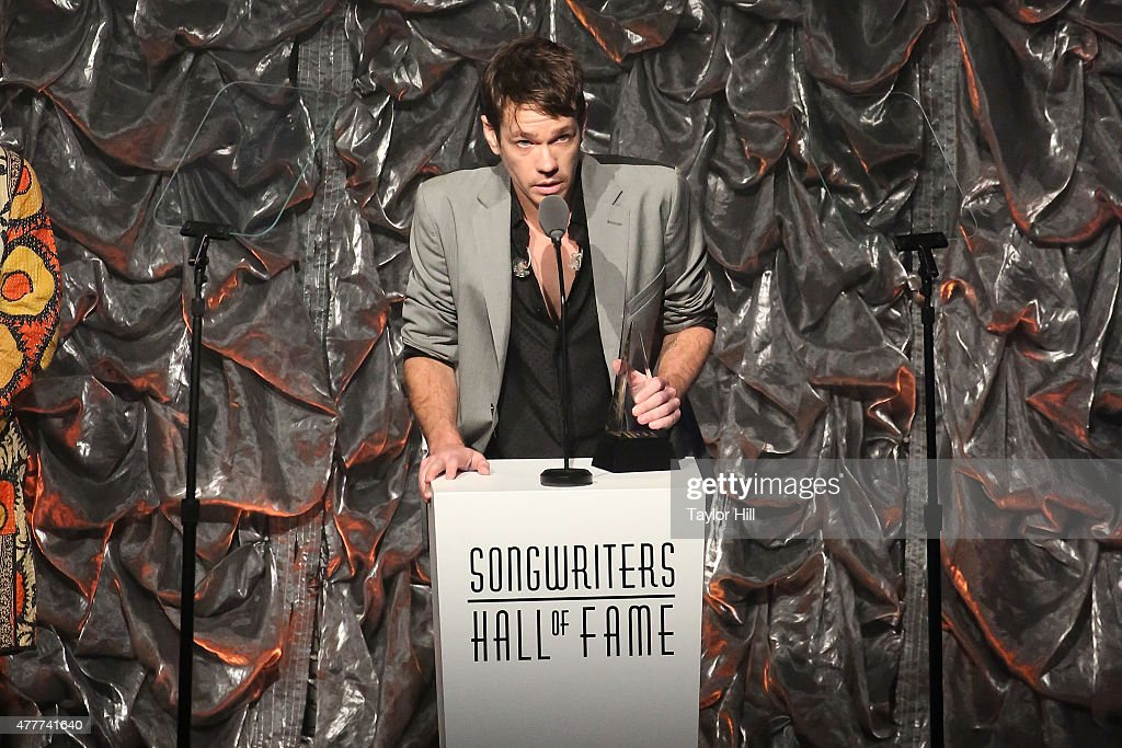 Nate Ruess speaks during the Songwriters Hall Of Fame 46th Annual Induction And Awards at Marriott Marquis Hotel on June 18 2015 in New York City