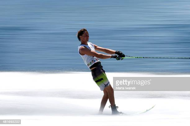 JULY 23 Nate Smith competes during the men's slalom waterski final held at Ontario Place West Channel during the 2015 Pan Am Games in Toronto July 23...