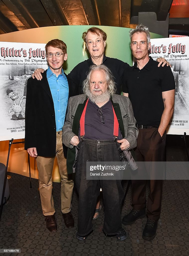 Nate Steinwachs, Bill Plympton, Dana Ashbrook and Michael Sullivan attend the 'Hitler's Folly' New York Premiere at SVA Theatre on June 1, 2016 in New York City.