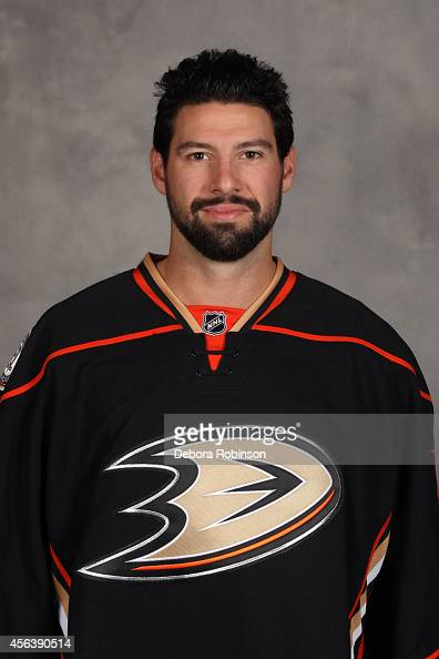 Nate Thompson of the Anaheim Ducks poses for his official headshot for the 20142015 season on September 18 2014 at the Honda Center in Anaheim...