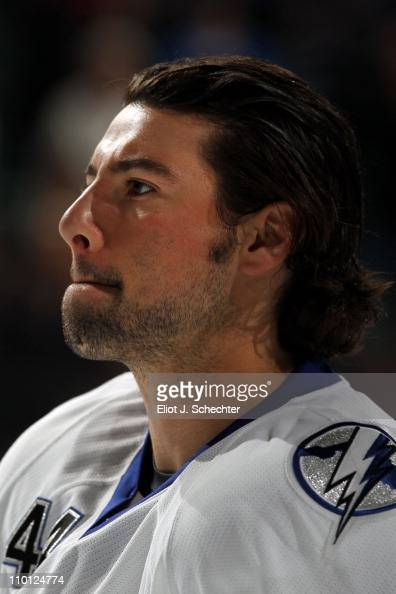 Nate Thompson of the Tampa Bay Lightning skates on the ice prior to the start of the game against the Florida Panthers at the BankAtlantic Center on...