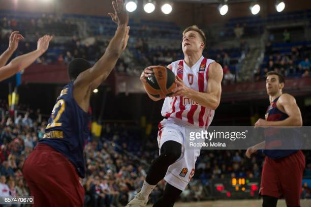 Nate Wolters #0 of Crvena Zvezda mts Belgrade in action during the 2016/2017 Turkish Airlines EuroLeague Regular Season Round 28 game between FC...