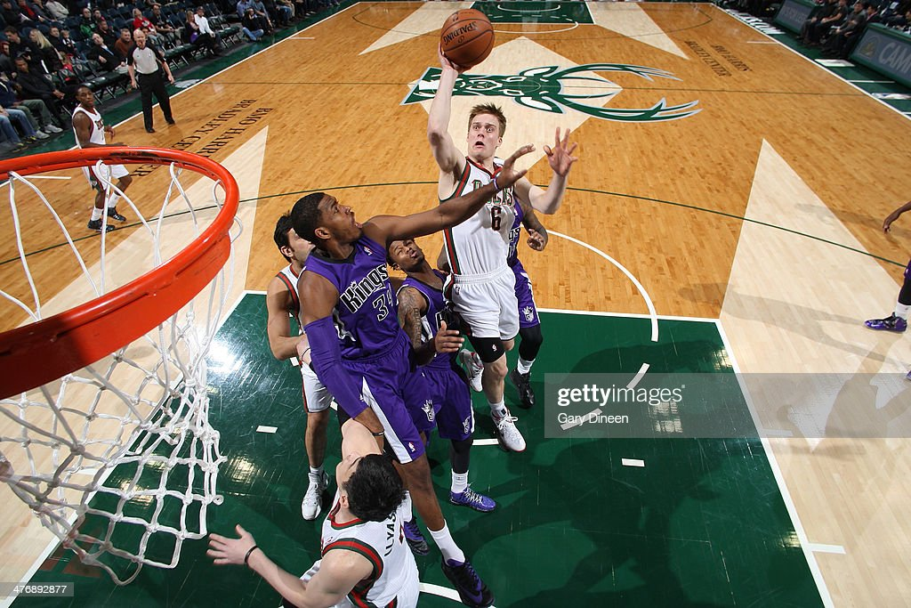 <a gi-track='captionPersonalityLinkClicked' href=/galleries/search?phrase=Nate+Wolters&family=editorial&specificpeople=9023990 ng-click='$event.stopPropagation()'>Nate Wolters</a> #6 of the Milwaukee Bucks shotos against the Sacramento Kings on March 5, 2014 at the BMO Harris Bradley Center in Milwaukee, Wisconsin.