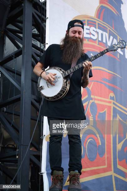 Nate Zuercher of the band Judah and The Lion performs at the Radio 1045 Summer Block Party August 20 2017 in Philadelphia Pennsylvania