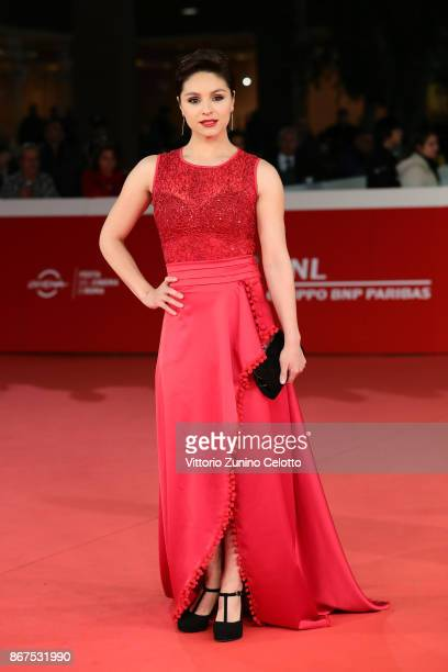 Nathalia Aragonese walks a red carpet for 'Cabros De Mierda' during the 12th Rome Film Fest at Auditorium Parco Della Musica on October 28 2017 in...