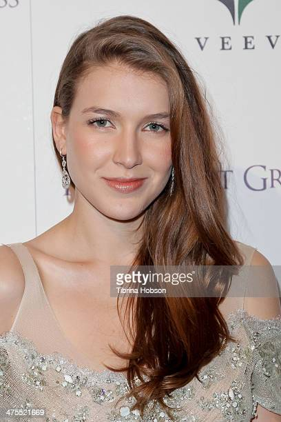 Nathalia Ramos attends the 5th anniversary of Suzy's global sustainable design campaign party at Palihouse Holloway on February 27 2014 in West...
