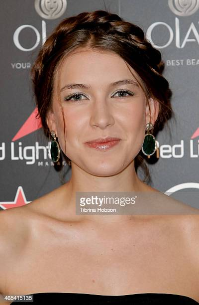 Nathalia Ramos attends the Red Light Management annual Grammy after party at SkyBar at the Mondrian Los Angeles on January 26 2014 in West Hollywood...