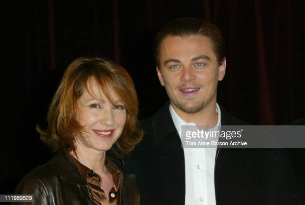 Nathalie Baye and Leonardo DiCaprio during 'Catch Me If You Can' Photocall Paris at L'Elysee Biarritz Theater in Paris France