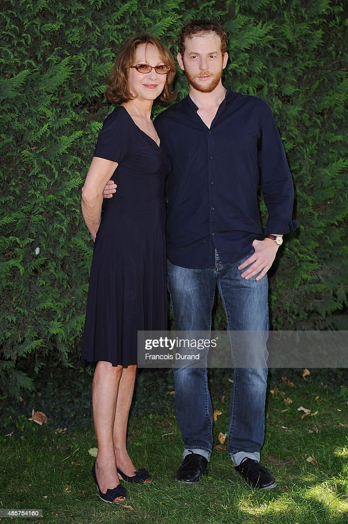 Nathalie Baye and Malik Zidi attend a photocall during the 8th Angouleme FrenchSpeaking Film Festival on August 29 2015 in Angouleme France