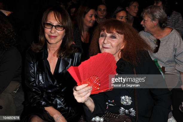 Nathalie Baye and Sonia Rykiel attend the Sonia Rykiel Ready to Wear Spring/Summer 2011 show during Paris Fashion Week on October 2 2010 in Paris...