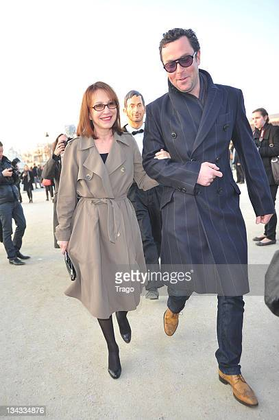 Nathalie Baye arrives for the Lanvin Ready to Wear Autumn/Winter 2011/2012 show during Paris Fashion Week at Espace Ephemere Tuileries on March 4...