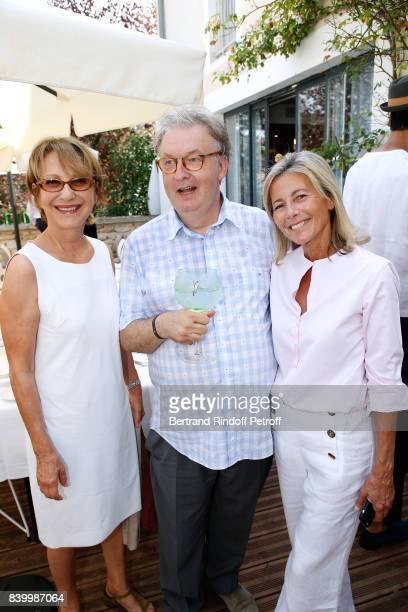 Nathalie Baye creator of the Festival Dominique Besnehard and Claire Chazal attend the 10th Angouleme FrenchSpeaking Film Festival Day Six on August...