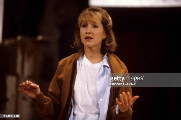 Nathalie Baye dans la pièce de théâtre 'Adriana Monti' le 18 septembre 1986 à Paris France