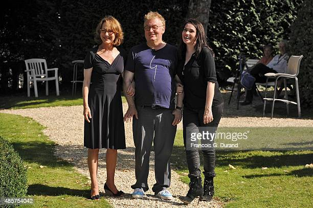 Nathalie Baye Dominique Besnehard and Beatrice Dalle attend the 8th Angouleme FrenchSpeaking Film Festival on August 29 2015 in Angouleme France