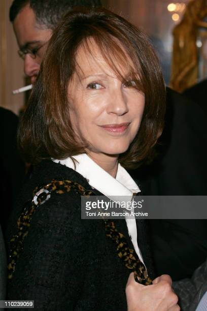 Nathalie Baye during Leonardo DiCaprio Receives the Arts and Letters Medal and Martin Scorsese Receives the Legion d'Honneur Medal at Minister of...
