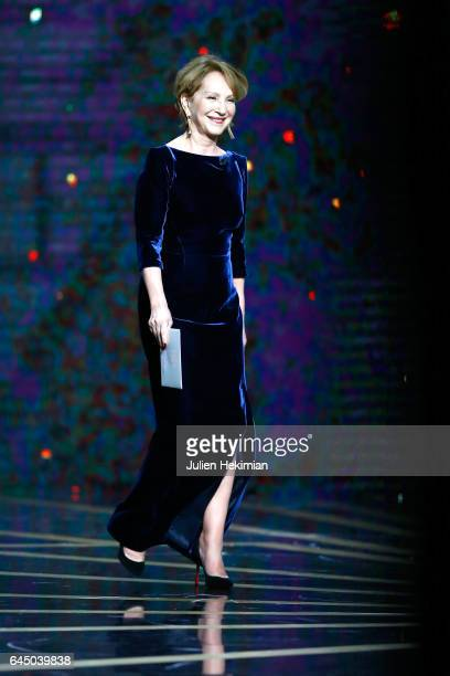 Nathalie Baye is seen on stage during the Cesar Film Awards Ceremony at Salle Pleyel on February 24 2017 in Paris France