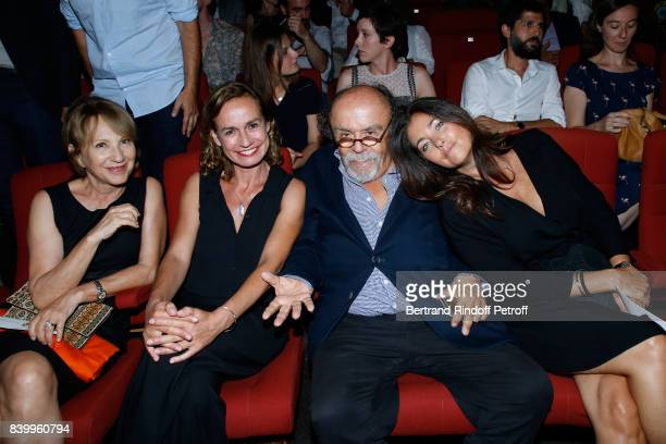 Nathalie Baye Sandrine Bonnaire JeanMichel Ribes and Cristiana Reali attend the 10th Angouleme FrenchSpeaking Film Festival Closing Ceremony on...