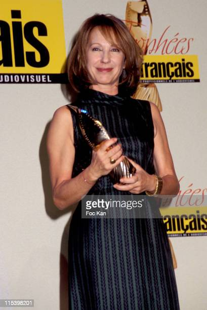 Nathalie Baye with the Film Francais Trophy during Film Francais Trophies Ceremony at Espace Cardin in Paris France