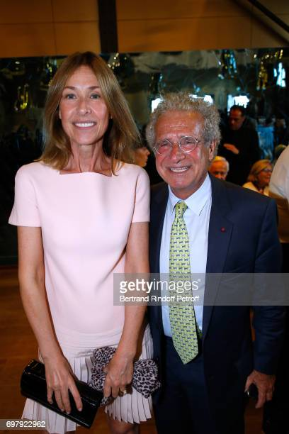 Nathalie BlochLaine and Laurent Dassault attend the 'Societe ses Amis du Musee d'Orsay' Dinner Party at Musee d'Orsay on June 19 2017 in Paris France