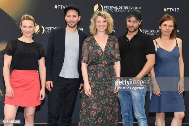Nathalie Boutefeu Ali Marhyar Cecile Bois Raphael Langlet and Yeelen Jappain from 'Candice Renoir' TV Show pose for a Photocall during the 57th Monte...
