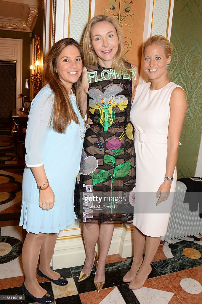 Nathalie Dauriac-Stoebe, Michaela de Pury and Laura Lagercrantz attend the Caudwell Children Butterfly Ball launch breakfast 2014 at Ancaster House on March 12, 2014 in London, England.