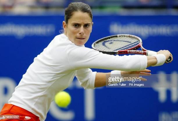 Nathalie Dechy in action during her match against Svetlana Kuznetsova
