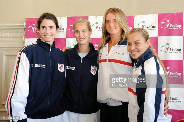 Nathalie DECHY / JOHANSSON HANTUCHOVA CIBULKOVA Fed Cup Conference de Presse Limoges
