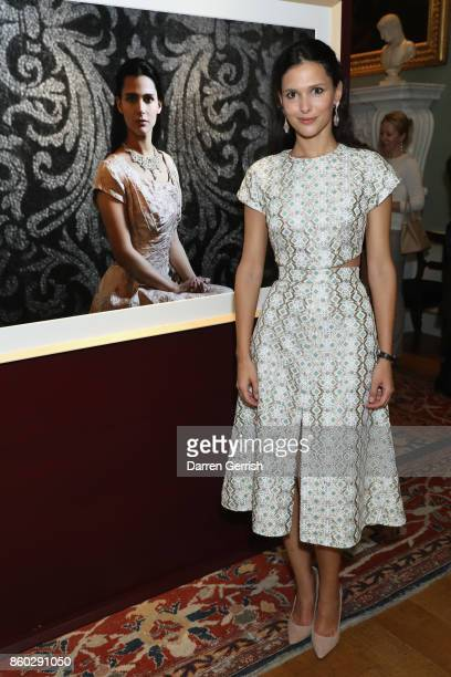 Nathalie Dompe attends Giampiero Bodino's 'Beauty Is My Favourite Colour' cocktails and dinner evening at Spencer House on October 11 2017 in London...