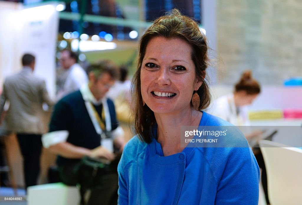 Nathalie Dore, head of the 'Atelier' at BNP Paribas in San Francisco, poses at the Viva technology event in Paris on July 1st, 2016. Dore presented a study on precision agriculture in the United States. 92 data farming companies have been identified to help farmers in crop and soil managment, cattle managment, irrigation managment. / AFP / ERIC